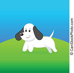 Dog cartoon drawing logo