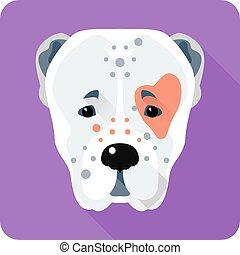 dog Central Asian Shepherd Dog icon flat design