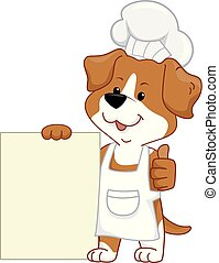 Dog Chef Board Illustration