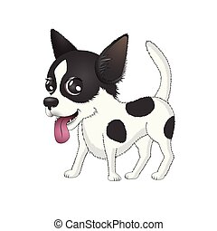 Dog Chihuahua vector isolated on white background.