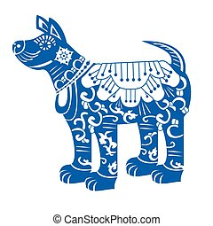 Dog. Chinese New Year Zodiac Symbol 2018.