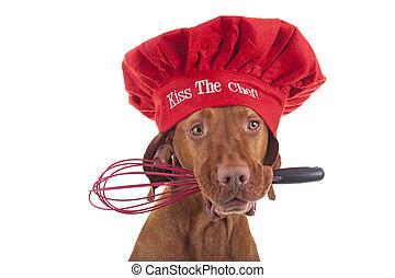 Dog Christmas chef
