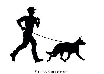 dog - man with dog