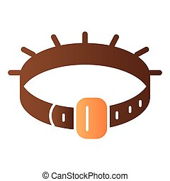 Dog collar flat icon. Pet collar color icons in trendy flat style. Animal belt gradient style design, designed for web and app. Eps 10.