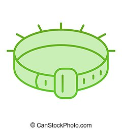 Dog collar flat icon. Pet collar green icons in trendy flat style. Animal belt gradient style design, designed for web and app. Eps 10.