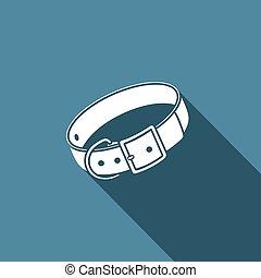 Dog collar icon. Vector illustration.