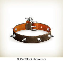 Dog collar, vector