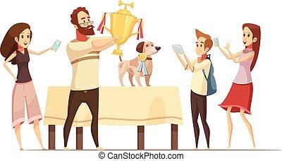Dog Composition Illustration