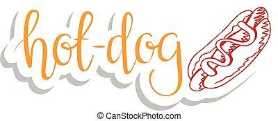 dog., cooking., ingredienti, cibo, serie, bevanda, caldo