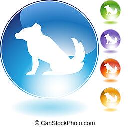 Dog Crystal Icon