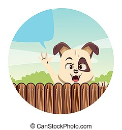 Dog cute cartoon