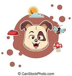 Dog cute cartoon