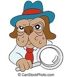 Dog Detective Cartoon