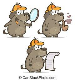 Dog detective smoking pipe list
