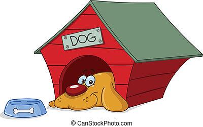 dog, doghouse