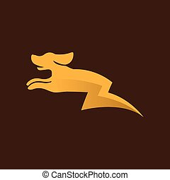 Dog electric energy logo vector