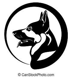 dog .eps - portrait of a shepherd