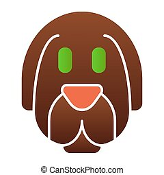 Dog face flat icon. Animal color icons in trendy flat style. Puppy gradient style design, designed for web and app. Eps 10.