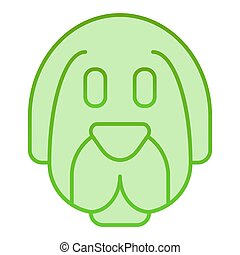 Dog face flat icon. Animal green icons in trendy flat style. Puppy gradient style design, designed for web and app. Eps 10.