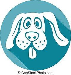 dog face flat icon