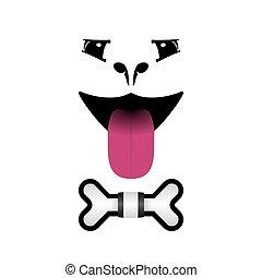 Dog face logo for pet shops, vet's clinics. Vector image.