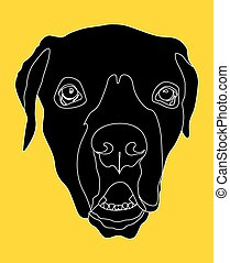 Dog Face Silhouette