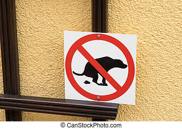 Dog feces - Information sign for dog owners
