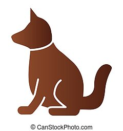 Dog flat icon. Animal color icons in trendy flat style. Puppy gradient style design, designed for web and app. Eps 10.