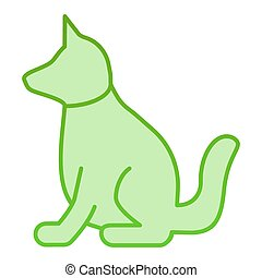 Dog flat icon. Animal green icons in trendy flat style. Puppy gradient style design, designed for web and app. Eps 10.