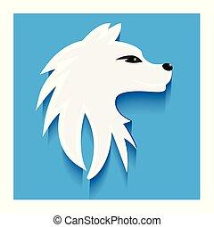 Dog flat icon logo