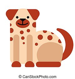 Dog flat illustration on white