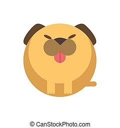 Dog flat illustration