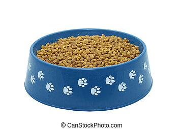 Dog Food Bowl Isolated On White