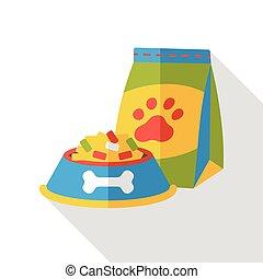 dog food flat icon