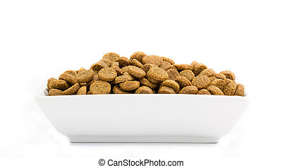 Dog food in a bowl