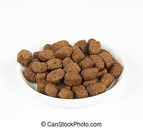 Dog food on plate