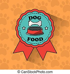 dog food pet medal ribbon banner