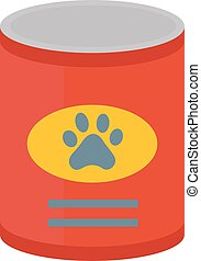 Dog food vector illustration.