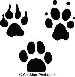 Dog footprints collection