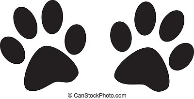 dog footprints - footprint of the two dogs vector