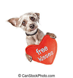 Dog Free Valentines Day Kisses