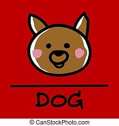 dog hand-drawn style,Vector illustration.