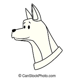 dog head avatar