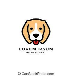 dog head cute pet logo vector icon