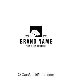 dog head design logo vector