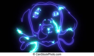 dog head digital laser animation