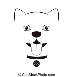 Dog head on a white background