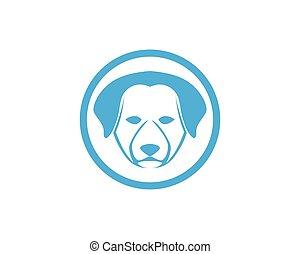 Dog head symbol and logo vector - Dog head symbol and logo