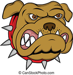 Vector illustration of dog head