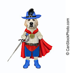 Dog hero armed with sword 2